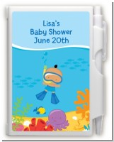 Under the Sea Hispanic Baby Boy Snorkeling - Baby Shower Personalized Notebook Favor