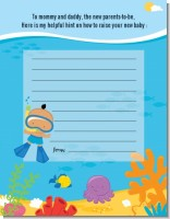 Under the Sea Hispanic Baby Boy Snorkeling - Baby Shower Notes of Advice