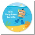 Under the Sea Hispanic Baby Boy Snorkeling - Personalized Baby Shower Table Confetti thumbnail