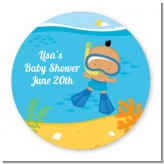 Under the Sea Hispanic Baby Boy Snorkeling - Personalized Baby Shower Table Confetti