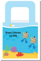 Under the Sea Hispanic Baby Boy Twins Snorkeling - Personalized Baby Shower Favor Boxes