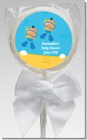 Under the Sea Hispanic Baby Boy Twins Snorkeling - Personalized Baby Shower Lollipop Favors