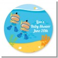 Under the Sea Hispanic Baby Boy Twins Snorkeling - Personalized Baby Shower Table Confetti thumbnail