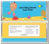 Under the Sea Hispanic Baby Girl Snorkeling - Personalized Baby Shower Candy Bar Wrappers