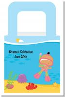 Under the Sea Hispanic Baby Girl Snorkeling - Personalized Baby Shower Favor Boxes