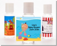 Under the Sea Hispanic Baby Girl Snorkeling - Personalized Baby Shower Hand Sanitizers Favors