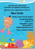 Under the Sea Hispanic Baby Girl Snorkeling - Baby Shower Invitations