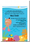 Under the Sea Hispanic Baby Girl Snorkeling - Baby Shower Petite Invitations