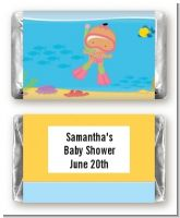 Under the Sea Hispanic Baby Girl Snorkeling - Personalized Baby Shower Mini Candy Bar Wrappers