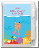 Under the Sea Hispanic Baby Girl Snorkeling - Baby Shower Personalized Notebook Favor