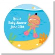 Under the Sea Hispanic Baby Girl Snorkeling - Personalized Baby Shower Table Confetti thumbnail