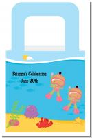Under the Sea Hispanic Baby Girl Twins Snorkeling - Personalized Baby Shower Favor Boxes
