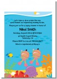 Under the Sea Hispanic Baby Girl Twins Snorkeling - Baby Shower Petite Invitations