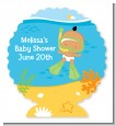 Under the Sea Hispanic Baby Snorkeling - Personalized Baby Shower Centerpiece Stand thumbnail