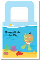 Under the Sea Hispanic Baby Snorkeling - Personalized Baby Shower Favor Boxes