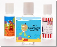 Under the Sea Hispanic Baby Snorkeling - Personalized Baby Shower Hand Sanitizers Favors