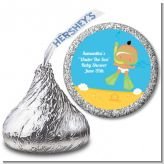 Under the Sea Hispanic Baby Snorkeling - Hershey Kiss Baby Shower Sticker Labels