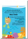 Under the Sea Hispanic Baby Snorkeling - Baby Shower Petite Invitations