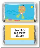 Under the Sea Hispanic Baby Snorkeling - Personalized Baby Shower Mini Candy Bar Wrappers