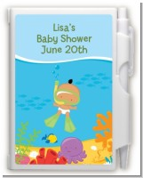 Under the Sea Hispanic Baby Snorkeling - Baby Shower Personalized Notebook Favor