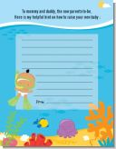 Under the Sea Hispanic Baby Snorkeling - Baby Shower Notes of Advice