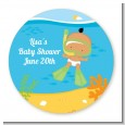 Under the Sea Hispanic Baby Snorkeling - Personalized Baby Shower Table Confetti thumbnail