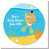 Under the Sea Hispanic Baby Snorkeling - Personalized Baby Shower Table Confetti