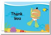 Under the Sea Hispanic Baby Snorkeling - Baby Shower Thank You Cards