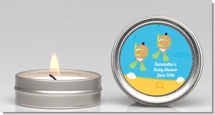 Under the Sea Hispanic Baby Twins Snorkeling - Baby Shower Candle Favors