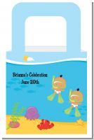 Under the Sea Hispanic Baby Twins Snorkeling - Personalized Baby Shower Favor Boxes