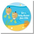 Under the Sea Hispanic Baby Twins Snorkeling - Personalized Baby Shower Table Confetti thumbnail