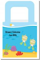 Under the Sea Twin Babies Snorkeling - Personalized Baby Shower Favor Boxes
