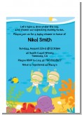 Under the Sea Twin Babies Snorkeling - Baby Shower Petite Invitations