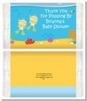 Under the Sea Twin Babies Snorkeling - Personalized Popcorn Wrapper Baby Shower Favors