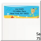 Under the Sea Hispanic Baby Snorkeling - Baby Shower Return Address Labels