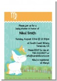 Unicorn | Virgo Horoscope - Baby Shower Petite Invitations