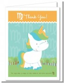 Unicorn | Virgo Horoscope - Baby Shower Thank You Cards