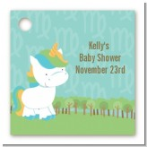 Unicorn | Virgo Horoscope - Personalized Baby Shower Card Stock Favor Tags