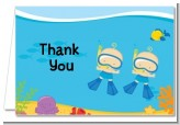 Under the Sea Baby Twin Boys Snorkeling - Baby Shower Thank You Cards