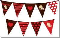 Cupid Baby Valentine's Day - Baby Shower Themed Pennant Set