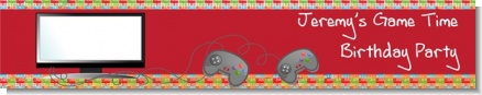 Video Game Time - Personalized Birthday Party Banners