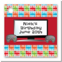 Video Game Time - Personalized Birthday Party Card Stock Favor Tags