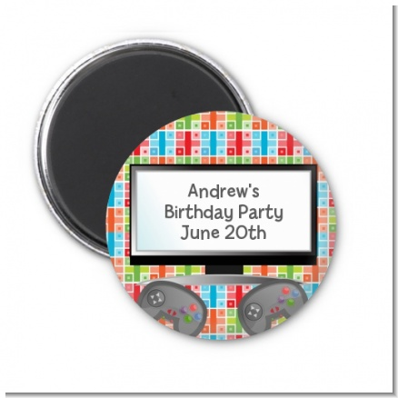 Video Game Time - Personalized Birthday Party Magnet Favors