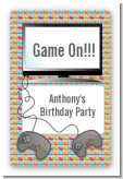 Video Game Time - Custom Large Rectangle Birthday Party Sticker/Labels