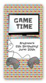 Video Game Time - Custom Rectangle Birthday Party Sticker/Labels