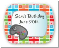 Video Game Time - Personalized Birthday Party Rounded Corner Stickers
