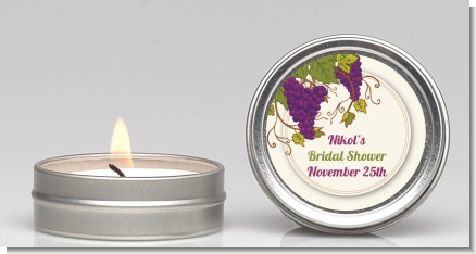 Vineyard Splash - Bridal Shower Candle Favors