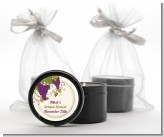 Vineyard Splash - Bridal Shower Black Candle Tin Favors