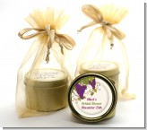 Vineyard Splash - Bridal Shower Gold Tin Candle Favors