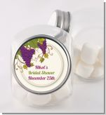 Vineyard Splash - Personalized Bridal Shower Candy Jar